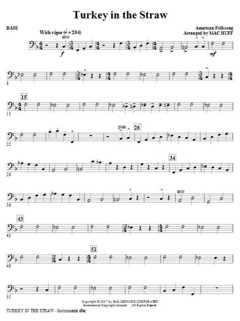 turkey   straw bass sheet  mac huff choral