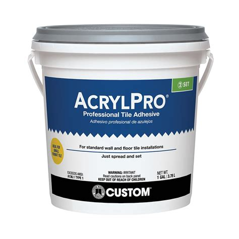 custom building products acrylpro 1 gal ceramic tile