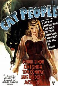 CAT PEOPLE - Vintage Horror Movie Posters
