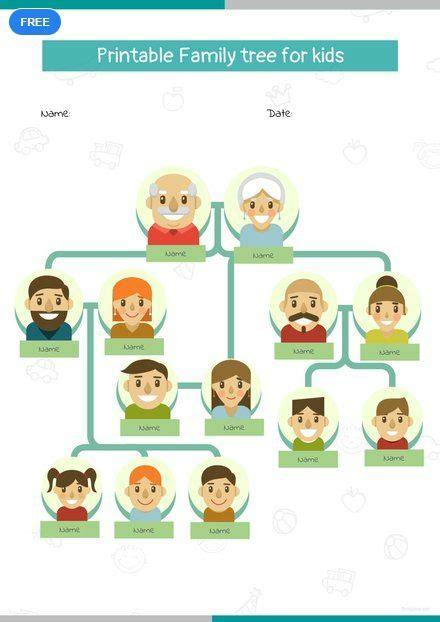printable family tree  kids family tree layout