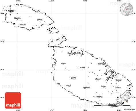 blank simple map  malta