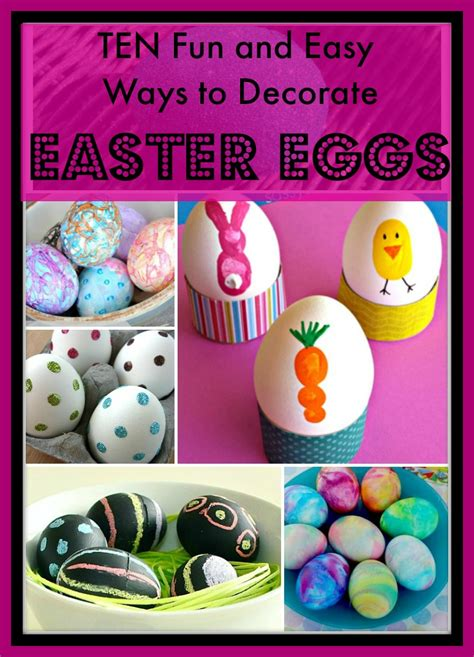 fun   easy ways  decorate easter eggs