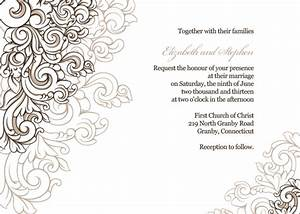 free pdf download scrolling border wedding invitation With borders for wedding invitations free download