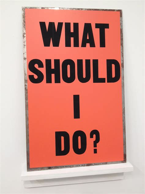 What Should I Do?, 1988  Allen Ruppersberg Wikiartorg