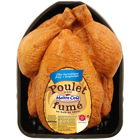 comment cuisiner poulet fumé poulet cuit fumé maître coq