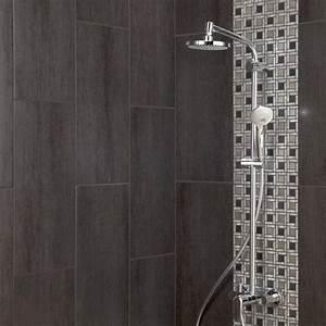Finition Carrelage Mural Salle De Bain : 1000 id es propos de salles de bains gris fonc sur ~ Dailycaller-alerts.com Idées de Décoration