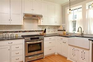 100 square foot kitchen remodel craftsman kitchen With kitchen colors with white cabinets with cape craftsmen wall art