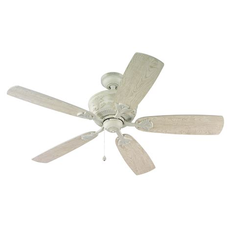 harbor 52 inch ceiling fan white shop harbor lilly 52 in antique white downrod