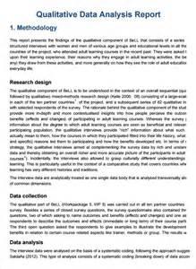 Qualitative Data Analysis Report Template