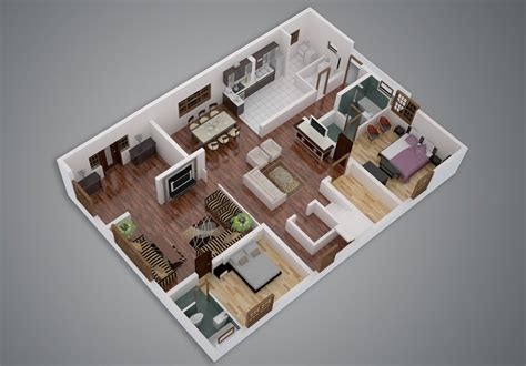 25 Two Bedroom Houseapartment Floor Plans by 25 Two Bedroom House Apartment Floor Plans