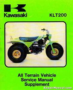 Kawasaki Klt200 Supplement Manual