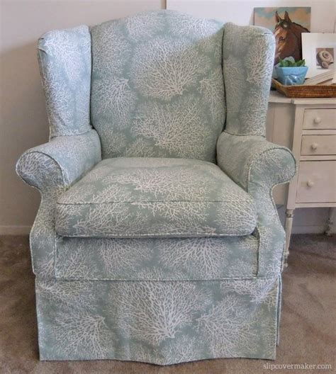 ethan allen wingback chair slipcovers 17 best images about s coral print slipcover on