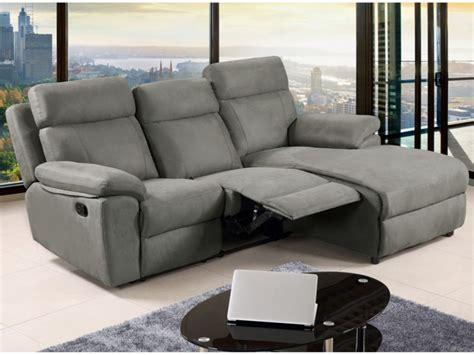 canap駸 relax canap 233 d angle relax en tissu gris ou caramel artuki