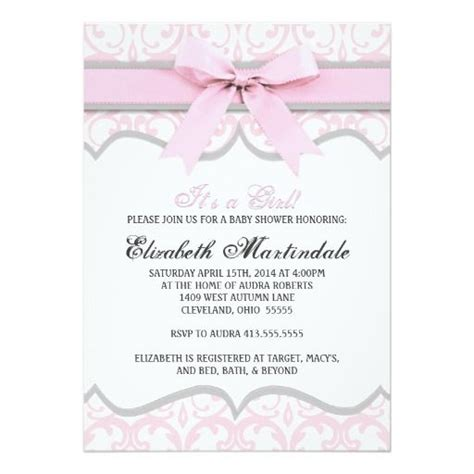 Elegant Baby Template by Baby Shower Invitation Templates Elegant Baby Shower