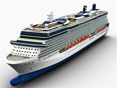 Celebrity Reflection Cruise Ship 3D Model MAX OBJ FBX MA MB | CGTrader.com