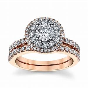 utwo 14k two tone diamond wedding set 1 1 3 cttw With robbins brothers wedding ring sets