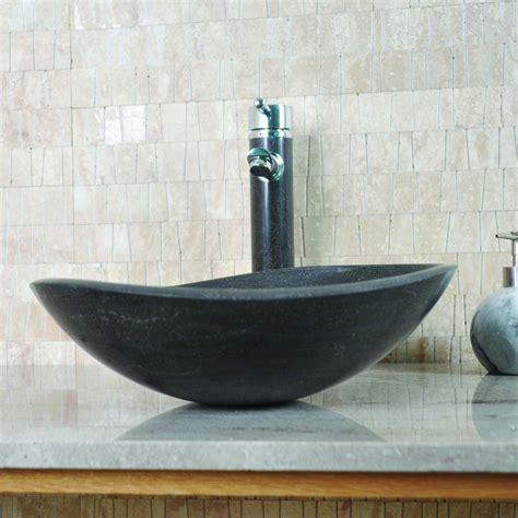 evier cuisine ceramique vasque ovale selona calcaire gris foncé indoor by