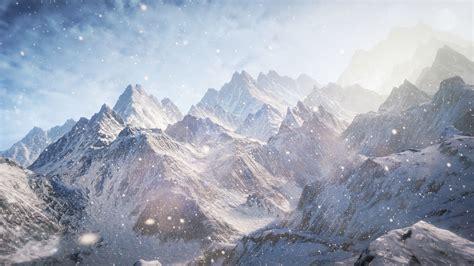 Wallpaper 3d, 5k, 4k Wallpaper, 8k, Mountains, Snow