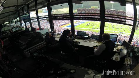 nfl time lapse   cbs sports broadcast booth youtube