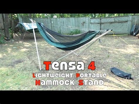 Lightweight Portable Hammock by Tensa4 Lightweight Portable Hammock Stand Look