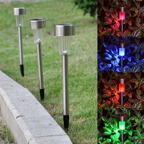 24 Pack Outdoor Stainless Steel Led Solar Power Light Lawn