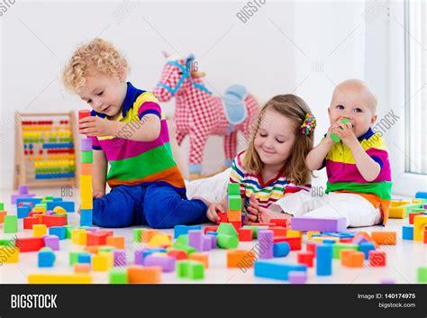 preschool kids playing happy preschool age children play image amp photo bigstock 316