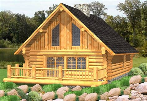 Russell  Log Cabin Plans  Log Home Plans  Bc Canada