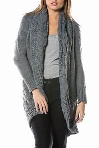 Gilet Long Grosse Maille : gilet femme pas cher gilet femme fashion princesse boutique ~ Melissatoandfro.com Idées de Décoration