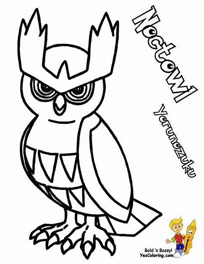 Pokemon Coloring Pages Noctowl Yescoloring Boys Boss