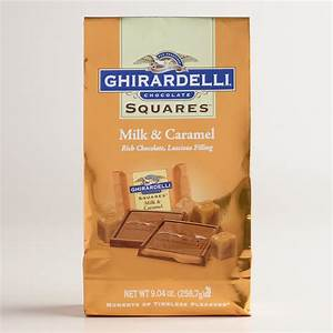 Large Ghirardelli Milk Chocolate and Caramel Squares Bag ...