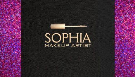 makeup artist gold mascara brush black linen  purple
