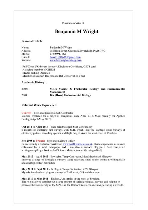 Cv Current by Ben Wright Cv Current