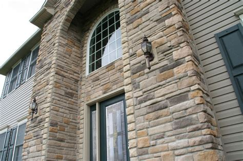dry stack stone siding  home exterior accents