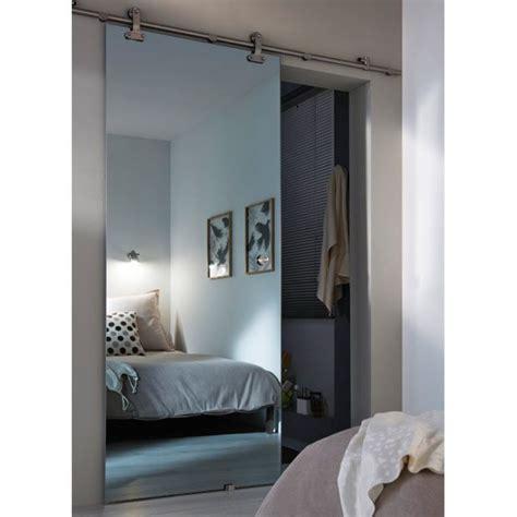Porte Coulissante Miroir Porte Coulissante Verre Mirage Effet Miroir Inspis