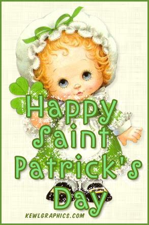 cute girly happy saint patricks day glitter facebook
