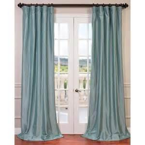faux silk taffeta 108 inch blackout curtain panel robin s