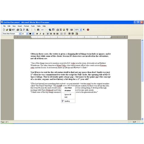 microsoft works word processor screenplay template pegnue