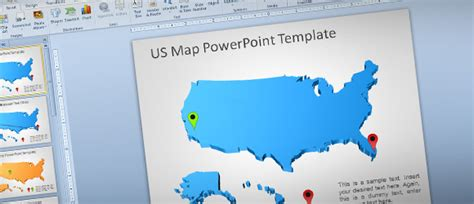 awesome  usa map outline  powerpoint