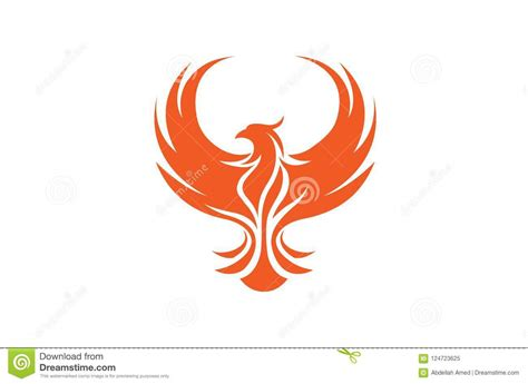 Free vector icons in svg, psd, png, eps and icon font. Creative Phoenix Bird Logo stock vector. Illustration of ...