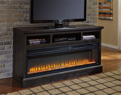 Sharlowe Large Tv Stand W/ Electric Fireplace By Signature