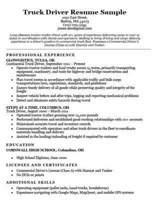 20455 truck driver resume exles truck driver cover letter sle resume companion