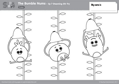 bumble nums color episode  steaming stir fry super simple