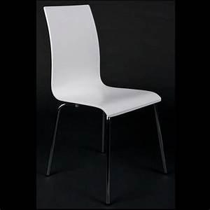 Chaises de salon ou de cuisine blanche lot de 4 achat for Deco cuisine avec chaise blanche de cuisine