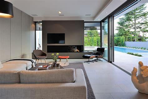 meuble derriere canapé contemporary villa design integrate indoor outdoor space