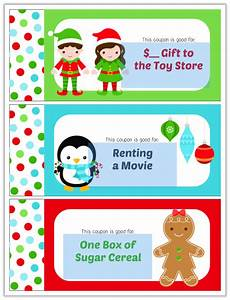 Editable Christmas Coupon Book For Kids