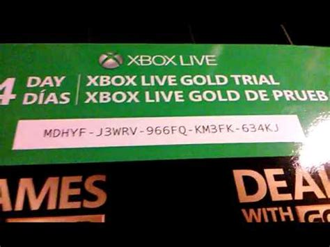 mm xbox live code free 14 day trial for xbox live
