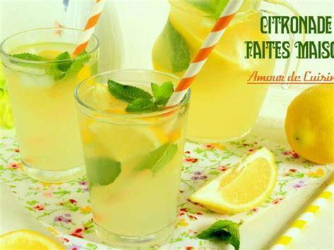 cuisine faite maison les meilleures recettes de citronnade et boissons