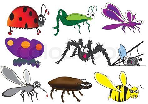 cute bugs funny beetles cartoon stock vector