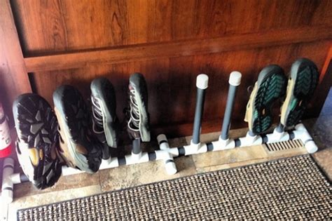 pvc shoe rack 25 rv shoe rack from pvc keep things tidy around the