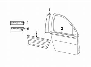Ford Expedition Door Molding  Lower   W  Wheel Lip Molding